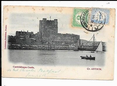 EGYPT 1904 INCOMING POSTCARD FROM IRELAND 1d RATE 2 POSTAGE DUES