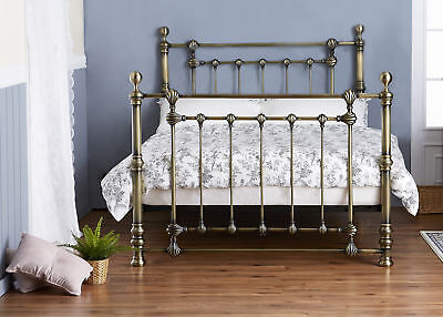 Eliza Brass Metal Bed Frame Solid Antique Victorian Various Sizes