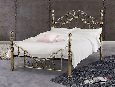 Hurley Brass Metal Bed Frame Antique Victorian Style Various Sizes