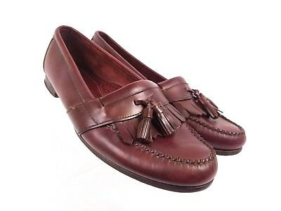 db789e71fee COLE HAAN LOAFERS Leather Men Tassel Kiltie 11 D USA Slip On Dress Shoe -   32.99