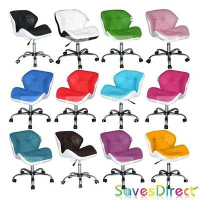 Swivel Computer Desk Office Study Chair PU Leather Adjustable Chair 13 Colours
