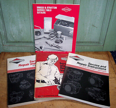3 Briggs & Stratton Service & Repair Instruction Manuals Single & Twin Cylinder