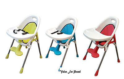 Baby Kids Quality Safety Comfy Baby High Chair Feeding tray Cup Holder Footrest