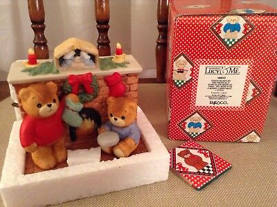 Lucy Rigg - Lucy And Me Bears - Christmas Music Box - Mib - Enesco