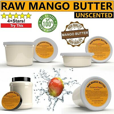 100% Raw Mango Butter Natural Pure Organic Unrefined Skin, Hair & Body Care