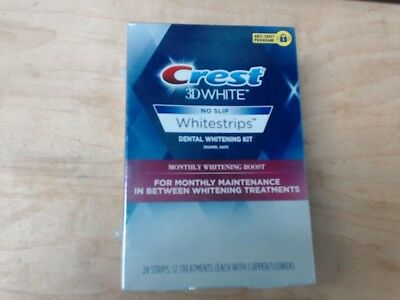 Crest 3D White Monthly Whitening Boost Dental Kit 12 Treatments 24 Pack New