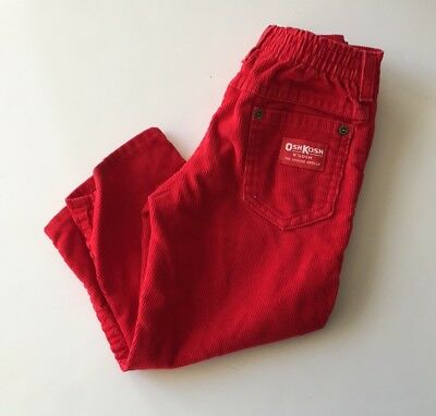 Vintage OshKosh B'Gosh Red Corduroy Pants Size 3T