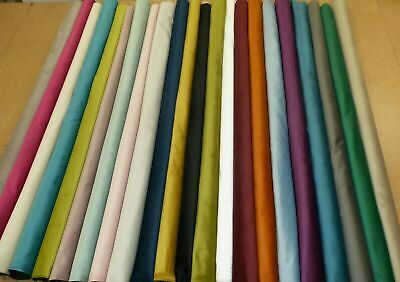 PLUSH PLAIN VELVET - Upholstery & Curtain Fabric & Buttons ** TWO NEW COLOURS **