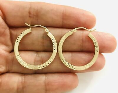 49085f830fe7 10K SOLID GOLD HOOP EARRINGS-16mm   10K ORO REAL ARETES -16mm - 1.3