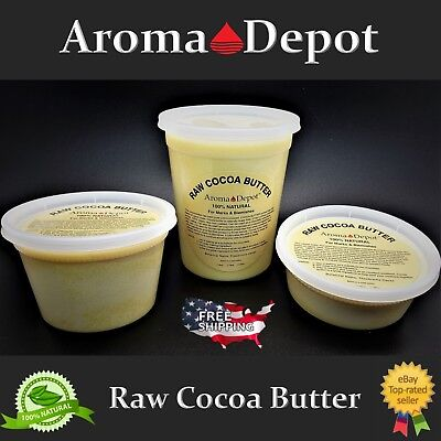100% Raw Cocoa / Cacao Butter PURE PRIME Pressed - Unrefined FOOD GRADE