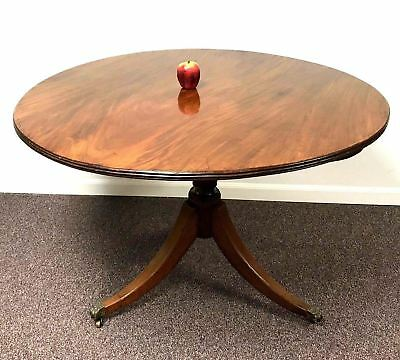 19th Century English Mahogany Pedestal Tilt Top Breakfast Table