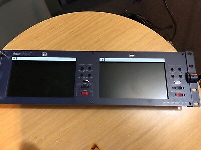 "Datavideo TLM-702 2x7"" Rackmount LCD Broadcast Monitor  WORKING"