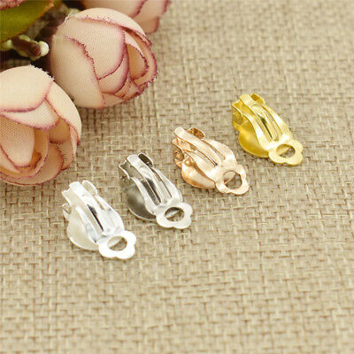 1.0x1.5cm Clip On Earring Findings Iron Jewellery Making Craft Supply 50pcs/Set