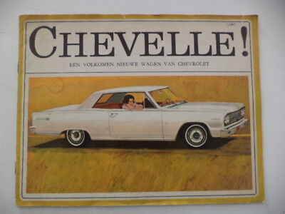 1964 Chevrolet Chevelle/malibu Dealer Brochure In Dutch With General Information