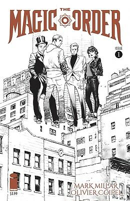 Black &White The Magic Order #1 - V rare - by Mark Millar