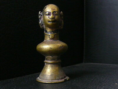 (eN357)  Tibet : Old and rare lady bronce figure from Nepal