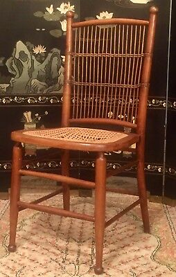 Antique Wood Chair Mid Century Hand Carved Wooden Chair Victorian Style Old Seat