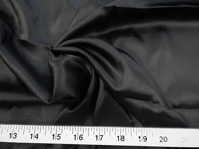 Discount Fabric Charmeuse Silky Bridal Satin Apparel Black CS03