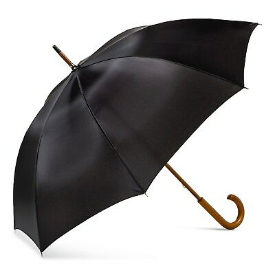 ShedRain Wood Stick Umbrella - Black