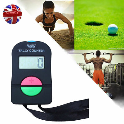 Electronic Manual Clicker Digital Hand Tally Counter Golf Gym Security running