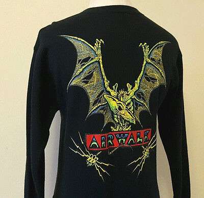 VTG 80s Airwalk Skateboard Sweatshirt ~ Pterodactyl ~ Tony Hawk ~ Medium