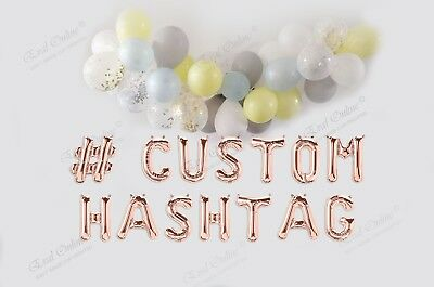Custom Name 16 Foil Balloons Rose Gold Silver Letters Any Words