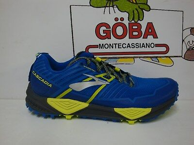 BROOKS CASCADIA 13 UOMO blue/black/lime