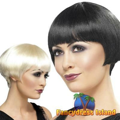 20's Flapper Charleston Bob Wig Adult Womens Fancy Dress Costume Accessory