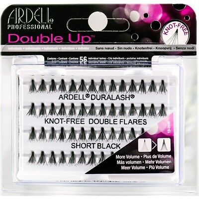 6e2845bec46 ARDELL DOUBLE UP Individual Eyelashes Knot Free Flare Short Black ...