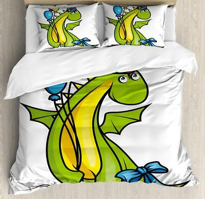 Kids Birthday Duvet Cover Set Twin Queen King Sizes with Pillow Shams