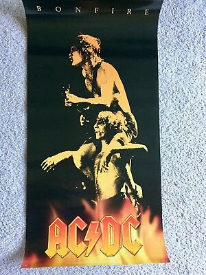 AC/DC Bonfire Box Album Art 30x17 Promotional Poster RARE - ACDC collectable