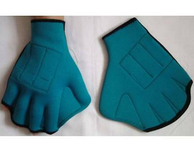 Webbed Swimming Gloves Neoprene Medium Surf Quick Fast Paddle BN