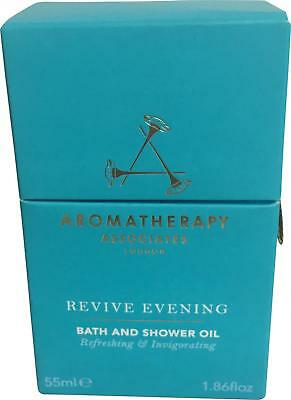 BNIB Aromatherapy Associates London Revive Evening 55ml Bath & Shower Oil LN314