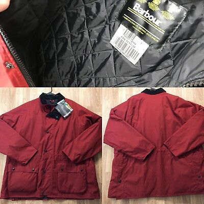 Barbour A932 Equestrian Jacket quilted padded Mens Size XXL removable hood :)