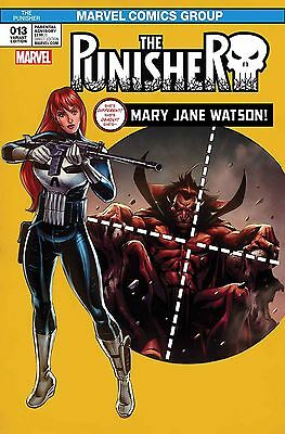 PUNISHER #13 MARY JANE VARIANT Spider-man #129 Homage Marvel Comics NM 1st Print