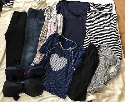 Ladies Maternity Bundle Size 12-14 Good Brands  10 Mixed Clothes Items VGC