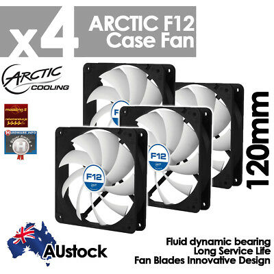 4x Arctic Cooling F12 Low Noise Silent 120mm High Productivity Computer Case Fan