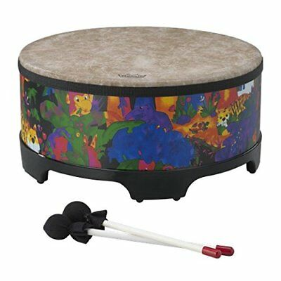 "Remo KD-5816-01 Kids Percussion Gathering Drum Fabric Rain Forest, 16"" KD581601"