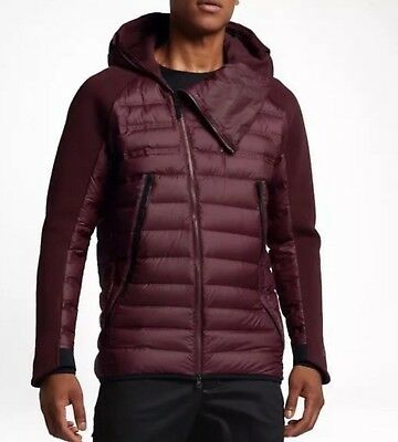 lowest price a8eb1 10c7f Nike Tech Fleece Aeroloft Jacket Maroon, Black 806838-681 Men s Size Large