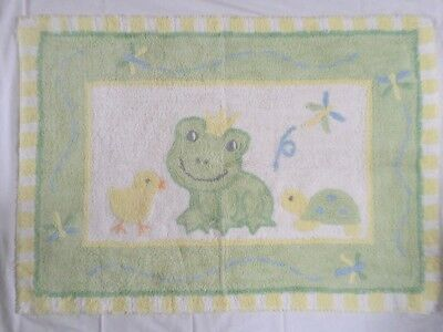 Frog Prince Rug Cotton Baby Kids Toddlers Room Lambs And Ivy 41x29