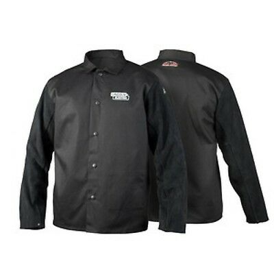 Lincoln Electric K3106-XL Traditional Split Leather Sleeved Welding Jacket, XL