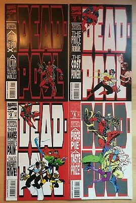 DEADPOOL Circle Chase 1-4 #1 2 3 4 1993 1ST PRINTS COMPLETE SET 1ST SOLO SERIES