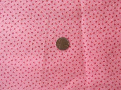 """~Back In Time Textiles~Antique 1890 Double pink calico fabric 40"""" x 12"""""""