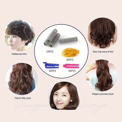 Beauty Hair Styling Hair Roots Perming Plastic Hair Clips DIY Curler Rollers Kit