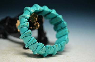 Exquisite Chinese Turquoise Hand Knit Beautiful Bracelet