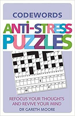 Anti-Stress Puzzles: Codewords New Paperback Book Dr. Gareth Moore