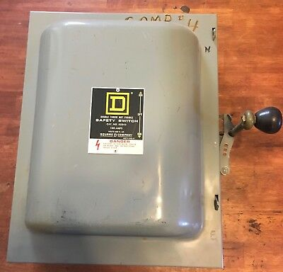 Square D 82343 100 Amp 600 VAC Double Throw Manual Transfer Switch 3-Pole