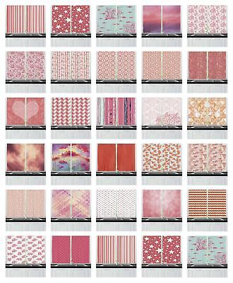 "Coral Kitchen Curtains 2 Panel Set Window Drapes 55"" X 39"" Ambesonne"