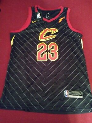 bc9c19f6c LeBron James Black Statement Authentic Nike Jersey Size 50 Large Brand New  Tags