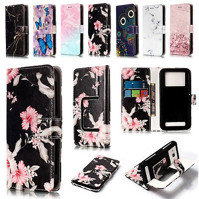 Universal Wallet Fashion Pattern Leather Flip Stand Case Cover For Smart Phones